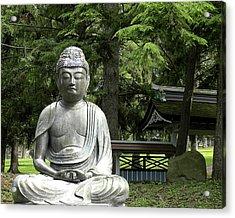 12th Century Bronze Buddha  2010 Acrylic Print by Joseph Duba