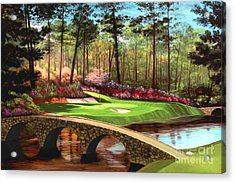12th Hole At Augusta  Acrylic Print