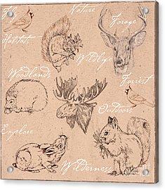 Wildlife Animal Pattern Acrylic Print