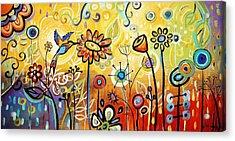 Abstract Painting  Acrylic Print by Jolina Anthony