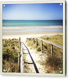 Beach Acrylic Print by Les Cunliffe