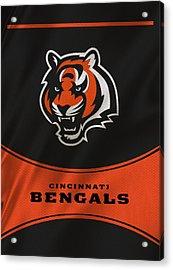 Cincinnati Bengals Uniform Acrylic Print by Joe Hamilton
