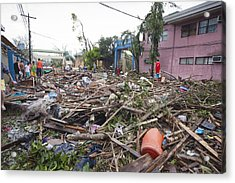 Destruction After Super Typhoon Haiyan Acrylic Print by Jim Edds