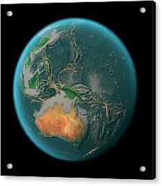 Global Tectonics Acrylic Print by Karsten Schneider/science Photo Library