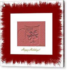 Happy Holidays Acrylic Print by Oksana Semenchenko