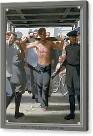 13. Jesus Goes To His Execution / From The Passion Of Christ - A Gay Vision Acrylic Print by Douglas Blanchard