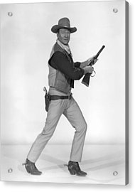 John Wayne Acrylic Print by Silver Screen