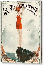 La Vie Parisienne  1919 1910s France Acrylic Print