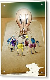 13 Acrylic Print by Laurentiu Ilina