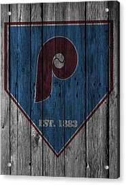 Philadelphia Phillies Acrylic Print by Joe Hamilton
