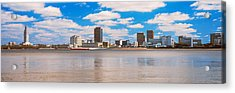 Skyscrapers At The Waterfront Acrylic Print by Panoramic Images