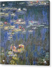 Water Lilies Acrylic Print by Claude Monet