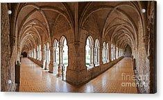 13th Century Gothic Cloister Acrylic Print by Jose Elias - Sofia Pereira