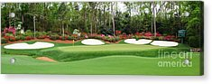 13th Green  Augusta Acrylic Print by Tom McGuirk