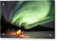 Aurora Borealis In Alaska Acrylic Print by Chris Madeley