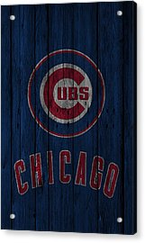 Chicago Cubs Acrylic Print by Joe Hamilton
