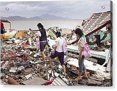Destruction After Super Typhoon Haiyan Acrylic Print