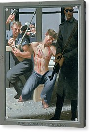 14. Jesus Is Nailed To The Cross / From The Passion Of Christ - A Gay Vision Acrylic Print by Douglas Blanchard