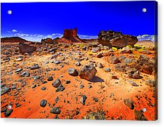 Acrylic Print featuring the photograph Monument Valley Usa by Richard Wiggins