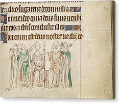 Queen Mary Psalter Acrylic Print by British Library
