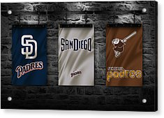 San Diego Padres Acrylic Print by Joe Hamilton