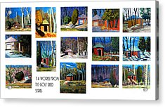 14 Works From The Golf Shed Series Acrylic Print by Charlie Spear