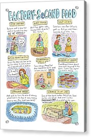 Factory Second Food Acrylic Print by Roz Chast