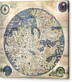 World Map By Fra Mauro - 1458 Acrylic Print