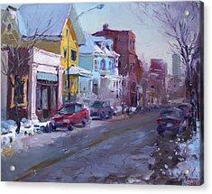 149 Elmwood Ave Savoy Acrylic Print by Ylli Haruni