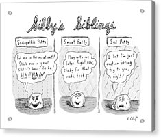 New Yorker August 3rd, 2009 Acrylic Print by Roz Chast