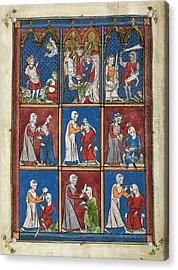 14th Century Religious Manuscript Acrylic Print