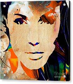 Angelina Jolie Collection Acrylic Print by Marvin Blaine