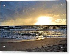 Beach Acrylic Print by William Watts
