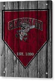 Cincinnati Reds Acrylic Print by Joe Hamilton