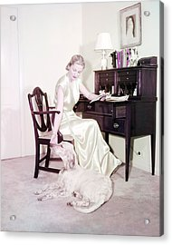 Joan Fontaine Acrylic Print by Silver Screen