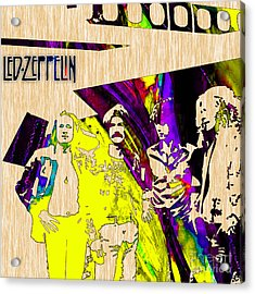 Led Zeppelin Acrylic Print by Marvin Blaine