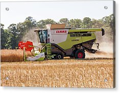 Rapeseed Harvesting Acrylic Print by Lewis Houghton/science Photo Library