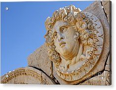 Sculpted Medusa Head At The Forum Of Severus At Leptis Magna In Libya Acrylic Print