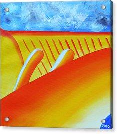 150  'orange Flame' Acrylic Print by Gregory Otvos