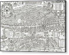 1576 Zurich Switzerland Map Acrylic Print by Daniel Hagerman