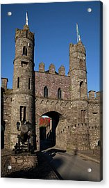 15th Century Castle In The Market Acrylic Print