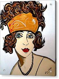 Art Deco  Hilda Acrylic Print by Nora Shepley