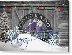 Colorado Rockies Acrylic Print by Joe Hamilton