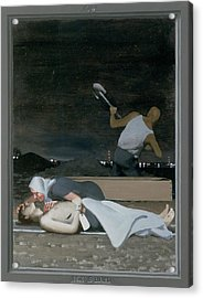 16. Jesus Is Buried / From The Passion Of Christ - A Gay Vision Acrylic Print by Douglas Blanchard