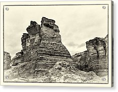 Monument Rocks - Chalk Pyramids Acrylic Print by Bill Kesler