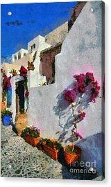 Oia Town Acrylic Print