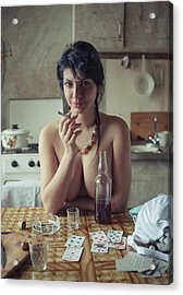 Untitled Acrylic Print by David Dubnitskiy