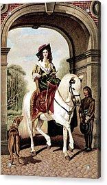 1600s Woman Riding Sidesaddle Painting Acrylic Print