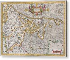 1606 Mercator Map Of Holland Acrylic Print by Paul Fearn