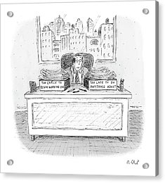 New Yorker December 6th, 2004 Acrylic Print by Roz Chast